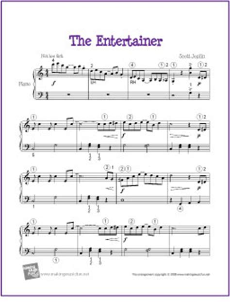 free printable piano sheet music intermediate the entertainer joplin free sheet music for easy inter