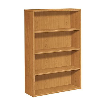 hon 10500 series bookcase hon 10500 series 4 shelf bookcase harvest by office depot