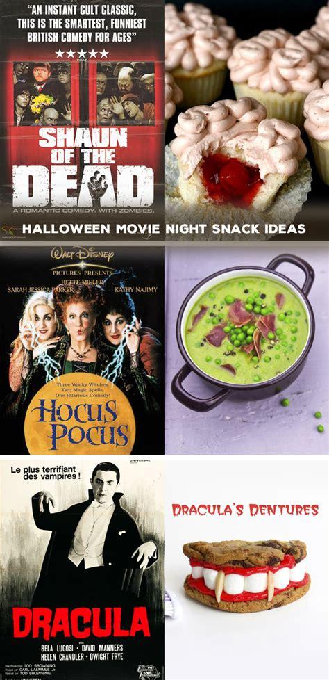 halloween night themes day 13 halloween movie night snack ideas