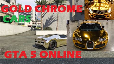 gta 5 crew colors gta 5 get gold chrome color on any car