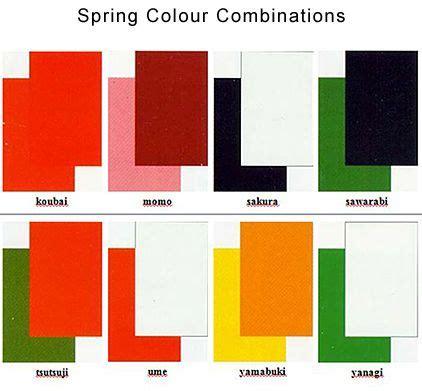 japanese color names japanese colour names seasonal combinations japan