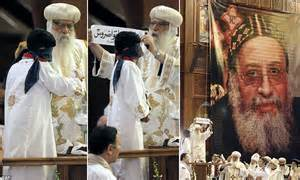 blindfolded by kid president bishop tawadros new pope for s coptic christians as