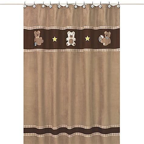 bear shower curtain sweet jojo designs teddy bear shower curtain in chocolate