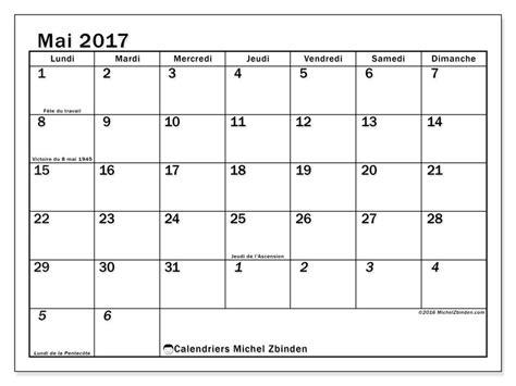 Calendrier Mai Calendrier Mai 2017 224 Imprimer Quot Jours F 233 Ri 233 S Julius Quot
