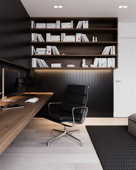 home office interior a calm and simple family home with neat features