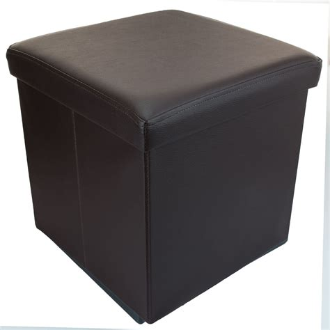 box ottoman small ottoman folding storage box foot rest with lid 38 x