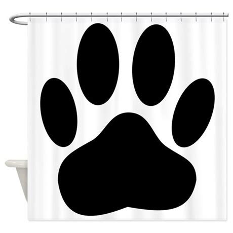 paw print curtains dog pawprint shower curtain by coolshowercurtains