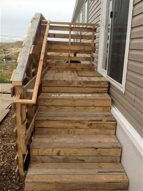 Build Wooden Build Wood Steps pallet wood stair designs pallet wood projects
