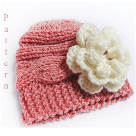 knit flower pattern for baby hat knitting pattern baby hat knit newborn cable hat pattern