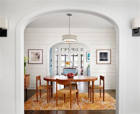 Shiplap Dining Room Wall White Shiplap Walls Dining