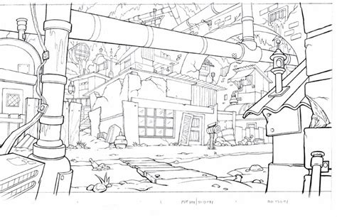 layout in animation art of starnes animation background layout line