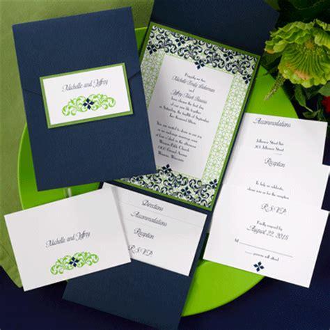the purple mermaid filigree navy blue and green pocket wedding invitations - Navy Blue And Green Wedding Invitations