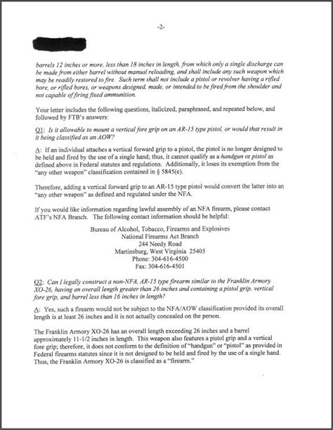 Nfa Letter Requirement collection of atf letters concerning nfa non nfa items nfa