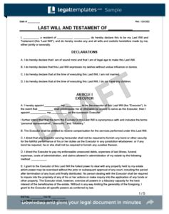 Power Of Attorney Form Poa Create A Durable Power Of Attorney Last Will And Testament Template Washington State