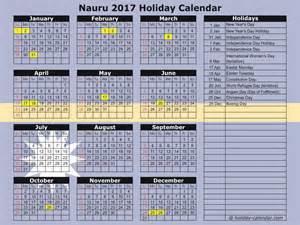 Nauru Calendã 2018 Nauru 2017 2018 Calendar