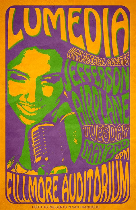 60 s design create a 60 s psychedelic style concert poster