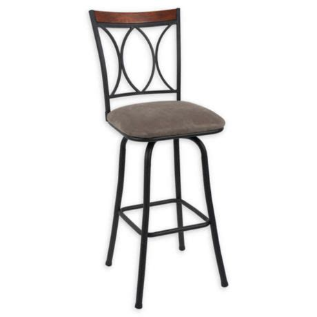 Microfiber Swivel Bar Stools by Microfiber Swivel 29 Quot Bar Stools In Black Set Of 2 Bed