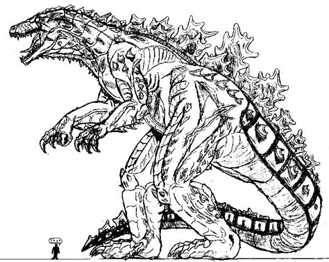 godzilla 1998 coloring pages godzilla line coloring pages