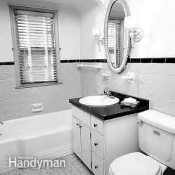 how to remodel a small bathroom the family handyman modern hgtv bathroom designs for small bathrooms