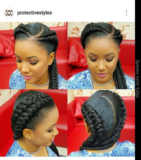 protective styles double braid and girls on pinterest double french braids so cute protective styles