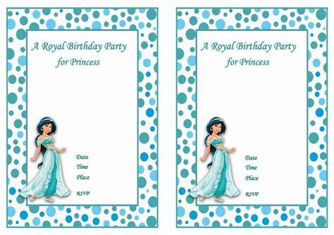 printable jasmine invitations princess jasmine free printable birthday party invitations