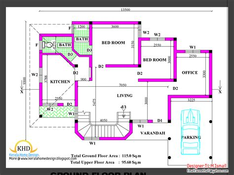 sq feet to meters 2266 square feet free home plan and elevation kerala