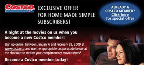 costco printable movie tickets costco canada subscribe get a free cineplex movie