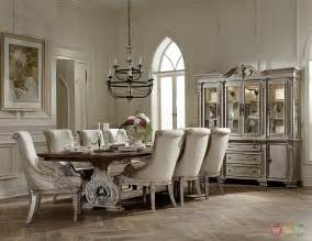 Elegant Dining Room Furniture orleans ii white wash traditional 7pc formal dining room