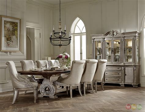 traditional formal dining room sets orleans ii white wash traditional 7pc formal dining room
