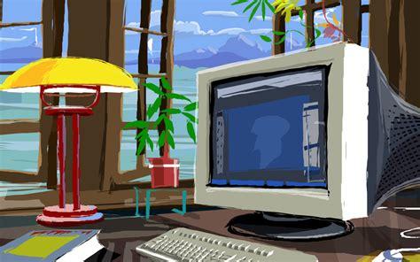 Computer Desk Background Computer Desk Wallpaper