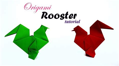 Origami Rooster - easy easter origami rooster tutorial how to make an