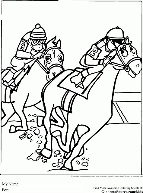 race horse coloring pages race horse coloring page coloring home