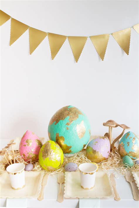 diy papier mache easter egg centerpiece