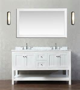 emily 60 quot bathroom vanity cottage style white