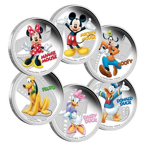 silver friends disney silver coin set mickey friends new zealand mint