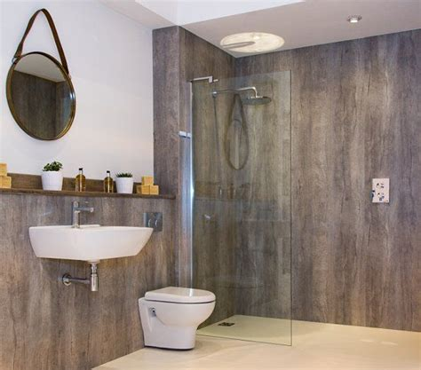 waterproof paneling for bathrooms bushboard s nuance laminate wallpanels allow retailers to