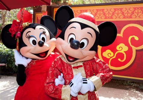 lunar new year and lunar new year has arrived at disneyland