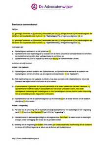 Letter Of Intent Voorbeeld Voorbeeld Freelance Overeenkomst Gratis De Advocatenwijzer