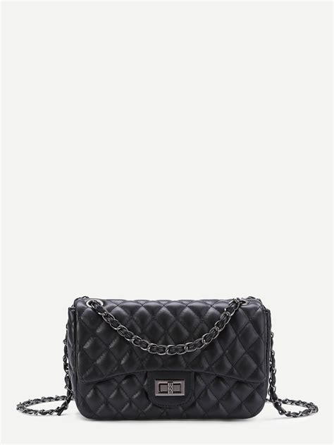 Quilted Crossbody Bags by Quilted Crossbody Chain Bag Shein Sheinside