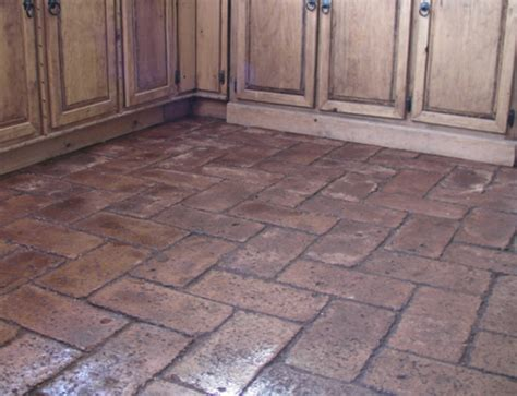 cheap and easy brick floors