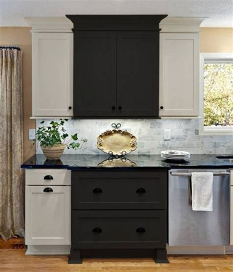 two different colors for cabinets kitchens