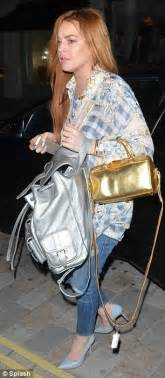 Lindsay Lohans Ysl Tribute Tote by Carrying Laurent Bags Yves