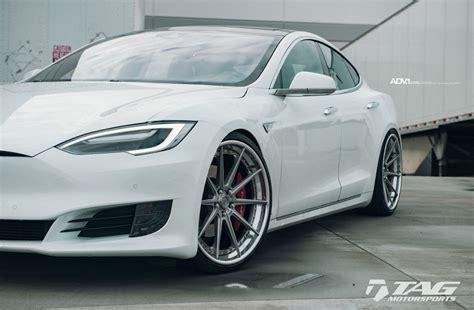 2017 white tesla model s white tesla model s adv10 track spec sl concave wheels