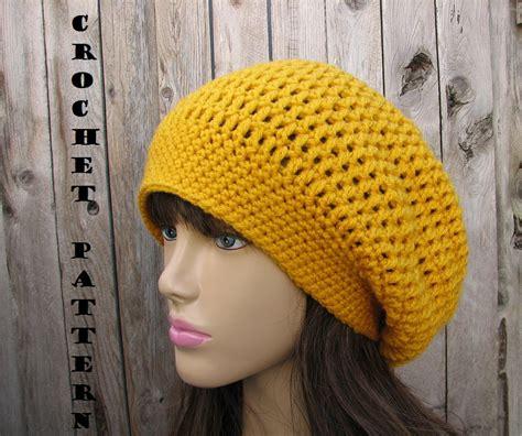 pattern crochet a hat crochet pattern crochet hat slouchy hat crochet