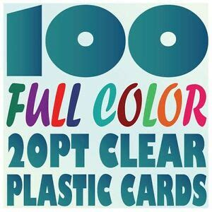 100 Plastic Business Cards