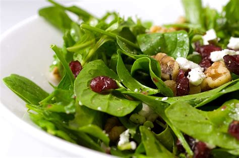 Thanksgiving Side Dishes by Recipe For Spinach Arugula Cranberry And Walnut Salad
