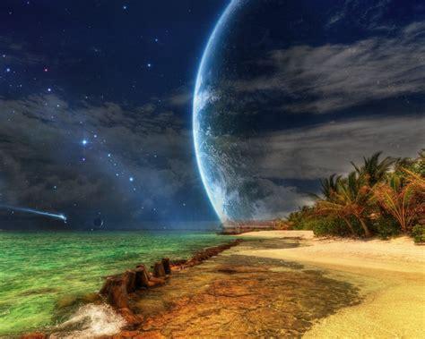 desktop wallpaper hd 1280 x 768 spaceships approaching tropical island hd wallpaper hd