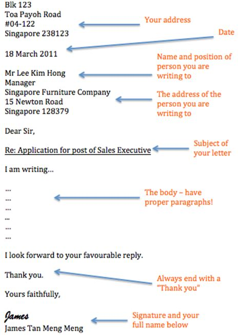 Formal Letter Format N Level Functional Writing Gce Study Buddy The