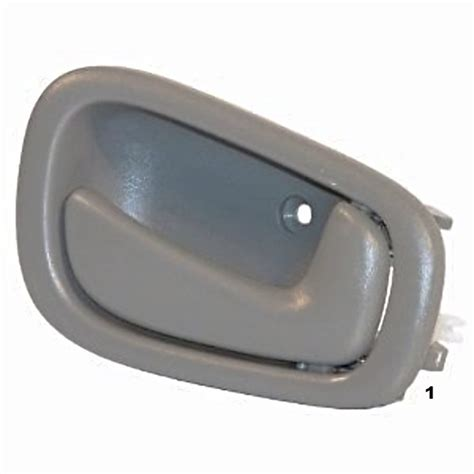 2001 Toyota Corolla Interior Door Handle 98 02 Corolla Prism Right Pass Manual Front Rear Interior Door Handle Grey Busted Auto Parts