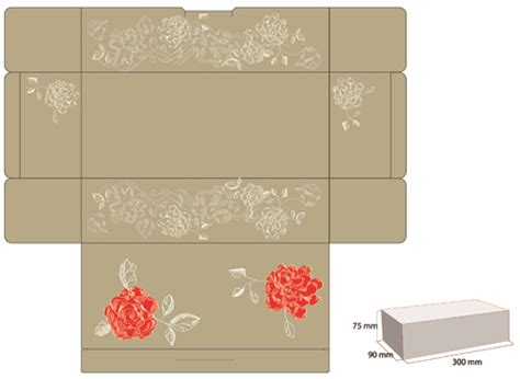 exquisite of pattern box design vector 01 vector cover